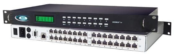 VEEMUX® SM-16X16-C5AV-LCD (Front & Back)