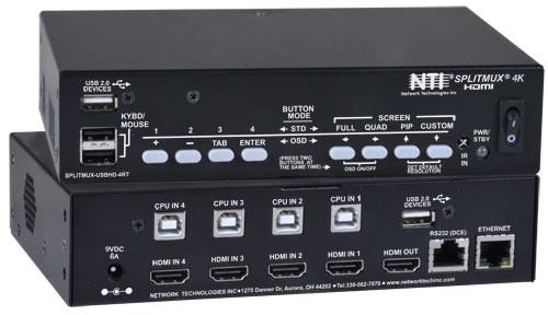 SPLITMUX-USB4K-4RT (Front & Back)