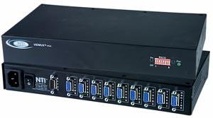 4-port VGA switch, 4 PC's to 1 VGA monitor, RS232 control, rackmount kit
