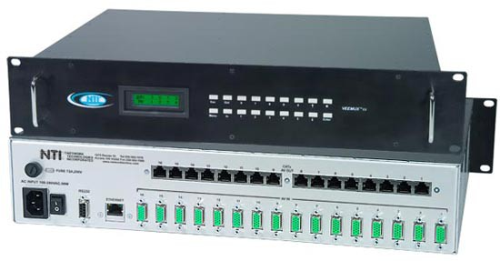 VEEMUX® SM-16X16-C5AVR-LCD (Front & Back)
