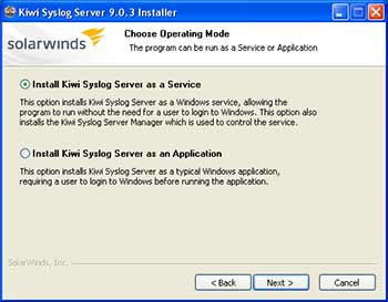 Install software as a Service for uninterrupted syslog alert reception